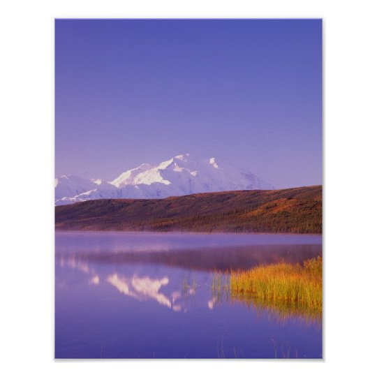 NA, USA, Alaska, Denali NP, Wonder Lake, Mt. Poster