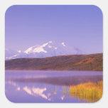 NA, USA, Alaska, Denali NP, Wonder Lake, Mt. Square Sticker