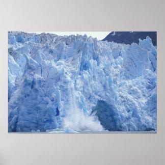 NA, USA, Alaska. Glacier crumbling into water Poster