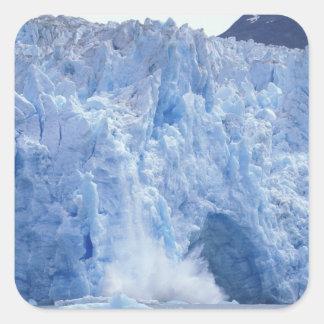 NA, USA, Alaska. Glacier crumbling into water Square Sticker