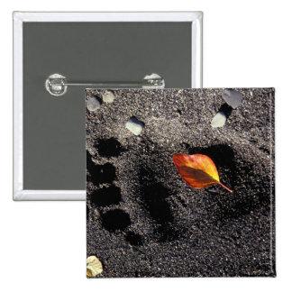 NA, USA, Alaska, Katmai NP, Brown bear pawprint Pinback Button