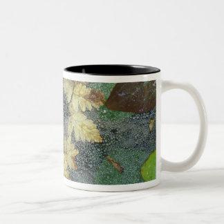 NA, USA, Alaska, Nancy Lake. Dew on spiderweb Two-Tone Coffee Mug
