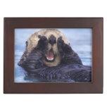NA, USA, Alaska. Sea otters are the largest Memory Box