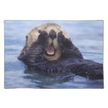 NA, USA, Alaska. Sea otters are the largest Place Mat