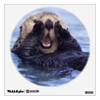 NA, USA, Alaska. Sea otters are the largest Room Sticker