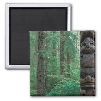 NA, USA, Alaska, Sitka, Sitka Totem Park, A 2 Inch Square Magnet