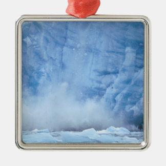 NA, USA, Alaska, Southeast Alaska, Tracy Arm, Square Metal Christmas Ornament