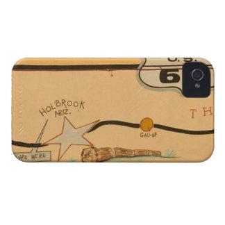 NA, USA, Arizona, Holbrook Route 66 road mural iPhone 4 Case-Mate Case