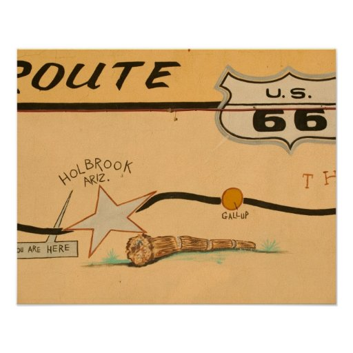 NA, USA, Arizona, Holbrook Route 66 road mural Poster