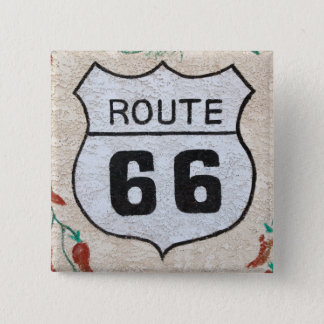 NA, USA, Arizona, Holbrook Route 66 street sign Button
