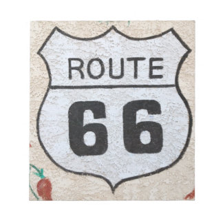 NA, USA, Arizona, Holbrook Route 66 street sign Notepad