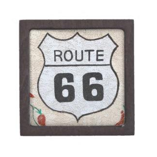 NA, USA, Arizona, Holbrook Route 66 street sign Premium Gift Boxes