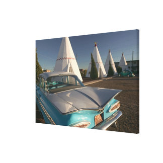 NA, USA, Arizona, Holbrook Route 66, Wigwam 2 Canvas Print