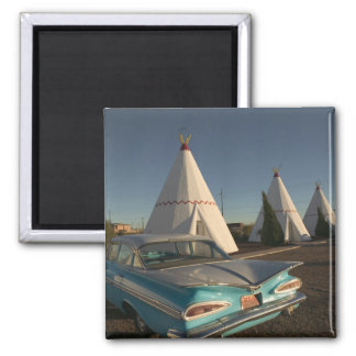 NA, USA, Arizona, Holbrook Route 66, Wigwam 2 Inch Square Magnet