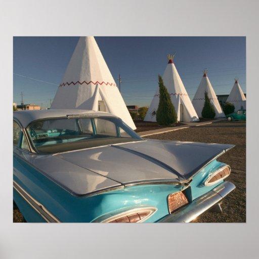 NA, USA, Arizona, Holbrook Route 66, Wigwam 2 Poster