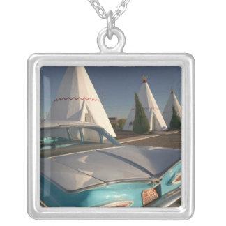 NA, USA, Arizona, Holbrook Route 66, Wigwam 2 Silver Plated Necklace