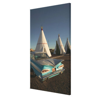 NA, USA, Arizona, Holbrook Route 66, Wigwam Canvas Print