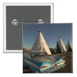NA, USA, Arizona, Holbrook Route 66, Wigwam Pinback Button