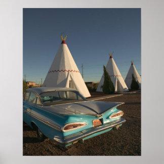NA, USA, Arizona, Holbrook Route 66, Wigwam Print