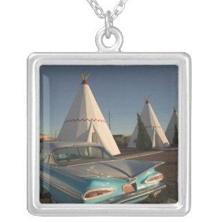 NA, USA, Arizona, Holbrook Route 66, Wigwam Silver Plated Necklace