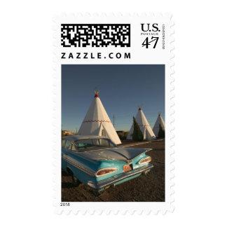 NA, USA, Arizona, Holbrook Route 66, Wigwam Stamp