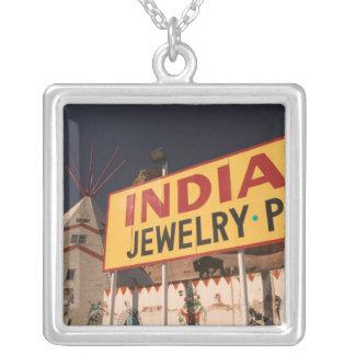 NA, USA, Arizona, Lupton Yellowhorse Indian Silver Plated Necklace