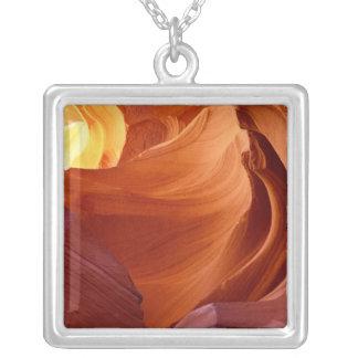 NA, USA, Arizona, Paria canyon. Sandstone 2 Square Pendant Necklace