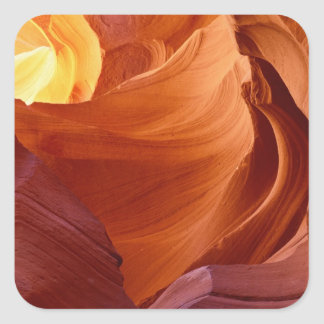 NA, USA, Arizona, Paria canyon. Sandstone 2 Square Sticker
