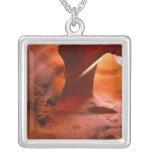NA, USA, Arizona, Paria Canyon. Sandstone Silver Plated Necklace