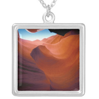 NA, USA, Arizona, Paria canyon. Sandstone Silver Plated Necklace