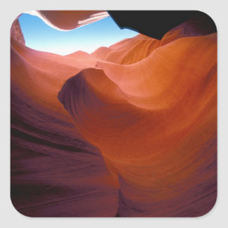 NA, USA, Arizona, Paria canyon. Sandstone Square Sticker