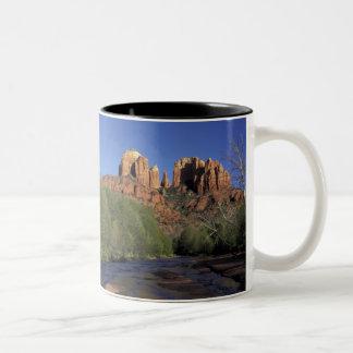 NA, USA, Arizona, Sedona. Cathedral Rock and Oak Two-Tone Coffee Mug