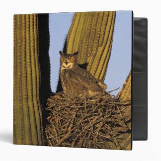 NA, USA, Arizona, Tucson. Great horned owl on 3 Ring Binder