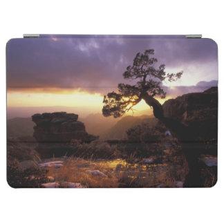 NA, USA, Arizona, Tucson, Sunset and lone iPad Air Cover