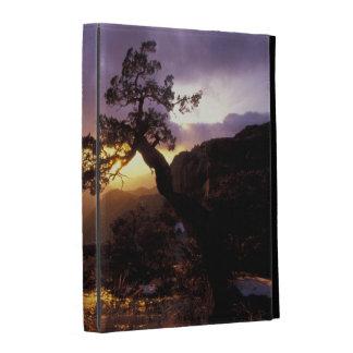 NA, USA, Arizona, Tucson, Sunset and lone iPad Folio Cover