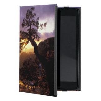 NA, USA, Arizona, Tucson, Sunset and lone iPad Mini Cases