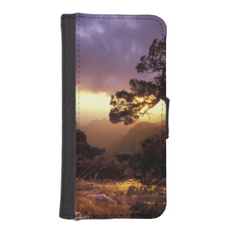 NA, USA, Arizona, Tucson, Sunset and lone iPhone 5 Wallet Cases