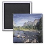 NA, USA, California, Yosemite NP, Valley view 2 Inch Square Magnet