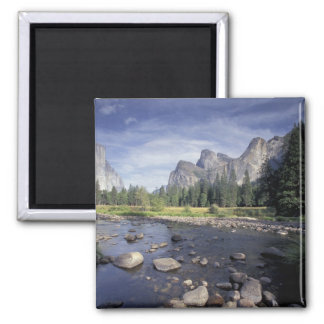 NA, USA, California, Yosemite NP, Valley view 2 Inch Square Magnet