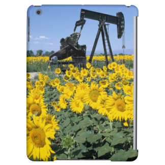 Na, USA, Colorado, Sunflowers, Oil Derrick iPad Air Covers
