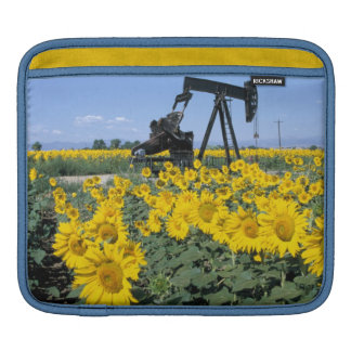 Na, USA, Colorado, Sunflowers, Oil Derrick Sleeves For iPads