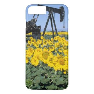 Na, USA, Colorado, Sunflowers, Oil Derrick iPhone 7 Plus Case