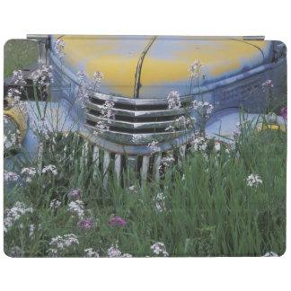 NA, USA, eastern Washington, Old truck with iPad Smart Cover