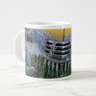 NA, USA, eastern Washington, Old truck with Large Coffee Mug