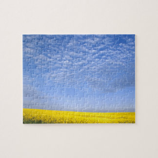 Na, USA, ID, Grangeville, Field of Canola Crop Jigsaw Puzzle