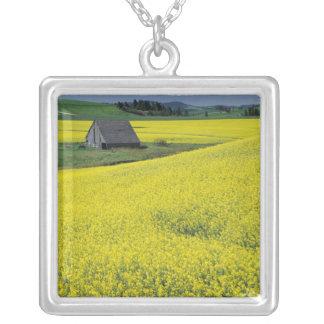NA, USA, Idaho, near Potlatch, Wooden barn and Square Pendant Necklace