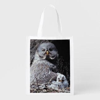 NA, USA, Idaho, Teton Valley. Great gray owl Reusable Grocery Bag
