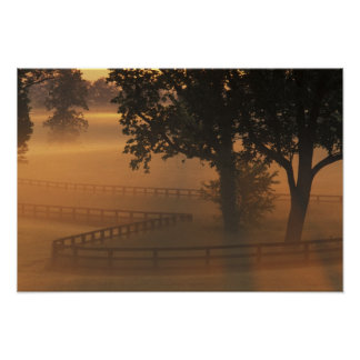 NA, USA, Kentucky. Foggy sunrise on Kentucky Print