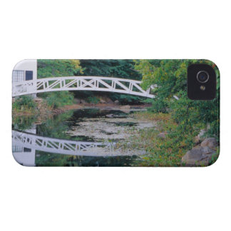 NA, USA, Maine.  Bridge over pond in Somesville. iPhone 4 Case-Mate Cases