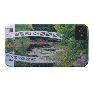 NA, USA, Maine.  Bridge over pond in Somesville. Case-Mate iPhone 4 Case